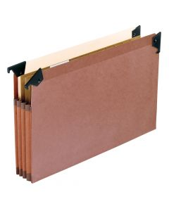 Premium Reinforced File Pocket with Swing Hooks, Legal size, Redrope