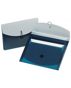 Slide Files with 4 Pockets, Blue/Silver