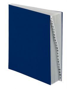 Pendaflex® Expanding Desk Files - Laminated Alphabetic Tabs, Letter Size, Navy